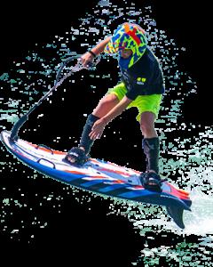 Lekker op het water met mijn Jet surfboard